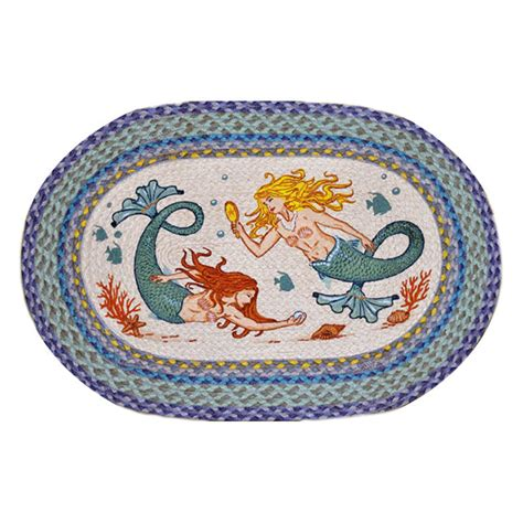 Patch Rug by Mermaids Oval Patch Rug