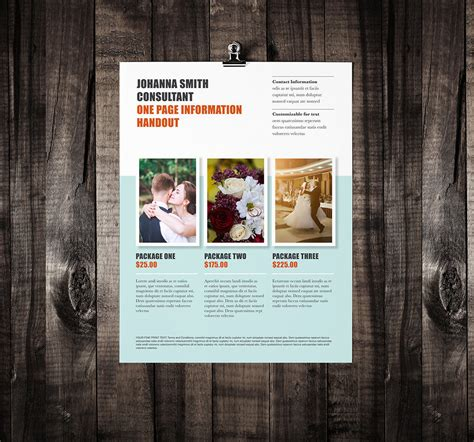 1 page flyer template single page brochure template rumble design store