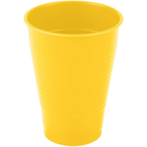 a cup creative converting 28102171 12 oz school yellow