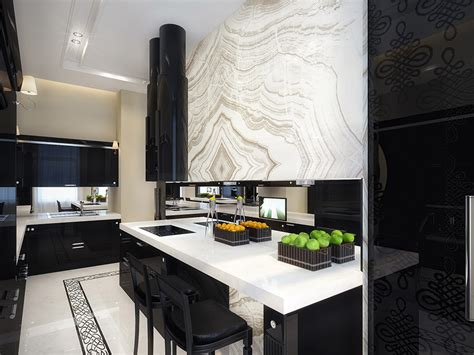 White And Black Kitchen Designs White And Black Kitchen Interior Design Ideas