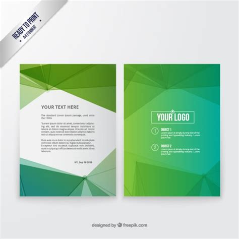 abstract green brochure vector free