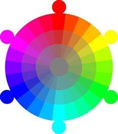 color wheel rgb color wheel rgb cmyk 24 hour with 2 tones color