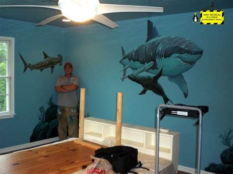 quot shark room quot mural idea as seen on www findamuralist
