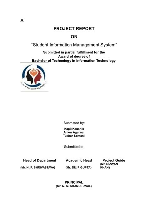 Sle Thesis Chapters About Database System by Student Information Management System Thesis