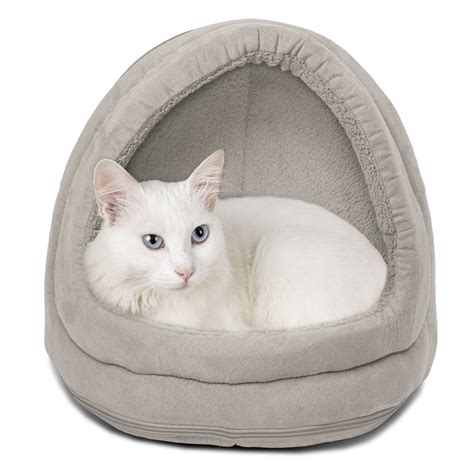 small pet bed furhaven pet nap hood pet bed small dog or cat bed lounger