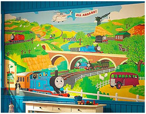 Thomas The Tank Engine Wall Murals thomas wall mural prepasted thomas tank train engine