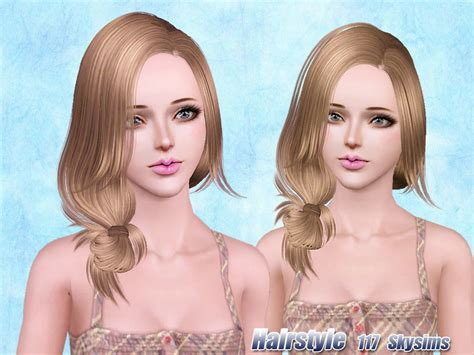 sims 3 custom content females hair bow skysims hair 117