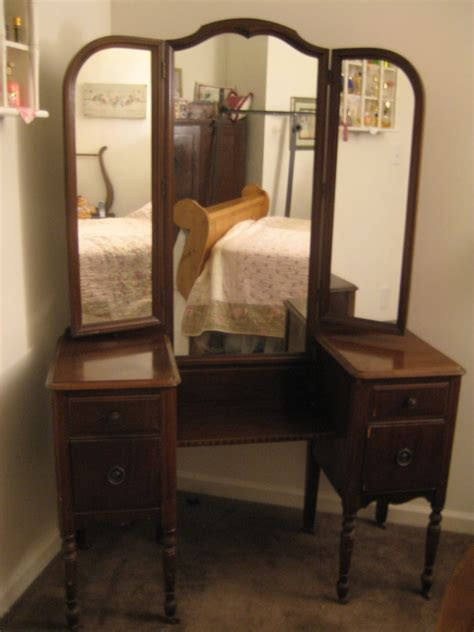 Antique 3 Mirror Vanity a comfy place of own antique vanity redo