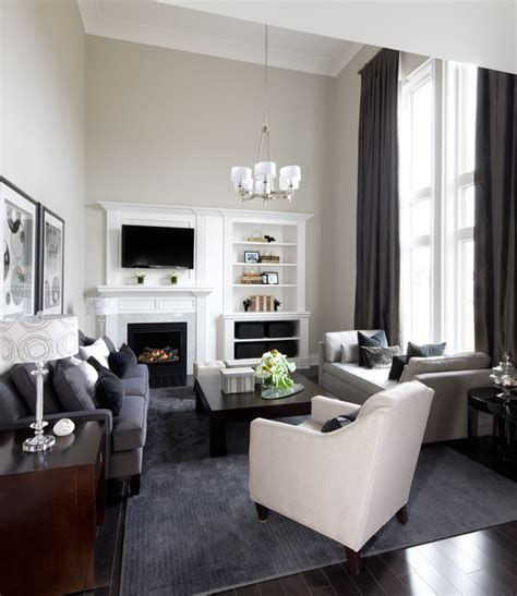 Living Room Decor Toronto Lockhart Interior Design Transitional Family Room