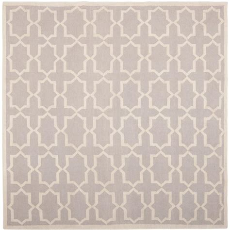 8 x 8 rug square safavieh dhurries grey ivory 8 ft x 8 ft square area rug dhu549g 8sq the home depot