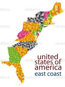 map of eastern coast of united states images