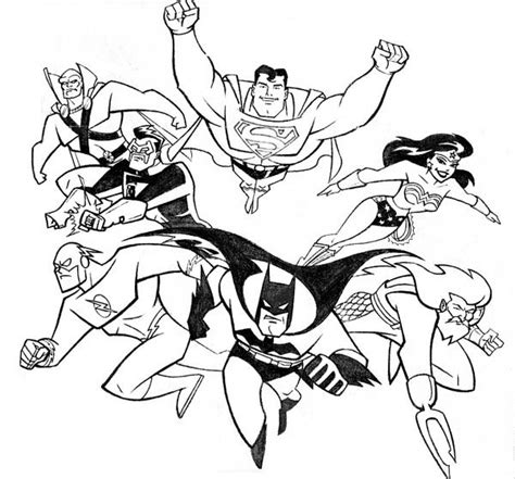 justice league coloring coloring pages
