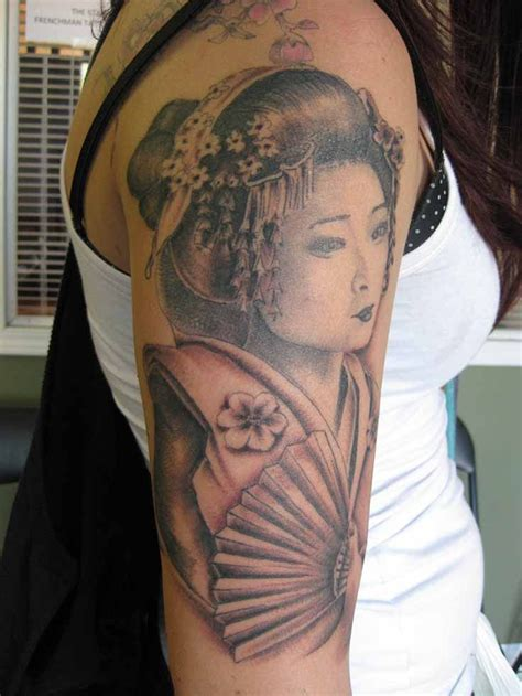chinese tattoo sleeve designs beautiful geisha tattoos designs