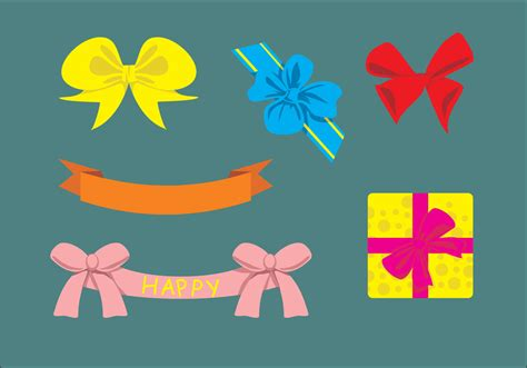 cute birthday ribbons vector   vector art