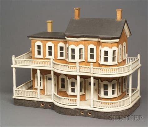 victorian doll houses for sale painted wooden two story victorian dollhouse made in new york state late 19th