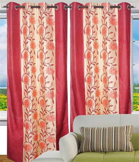 home decor set of 2 door eyelet curtains buy
