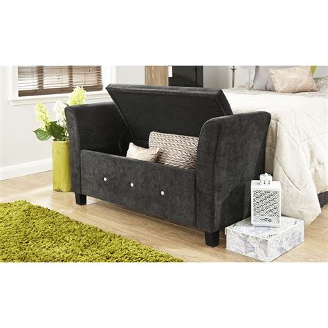 box bench seat verona chenille diamante window seat ottoman storage box