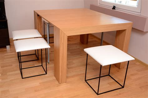 Space Saving Dining Tables And Chairs Havesome Space Saving Table And Chairs Set For 10