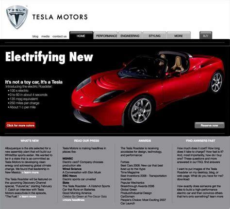 Tesla Car Website Everything Tesla Motors In Two Minutes