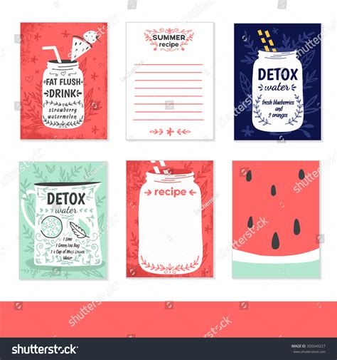 notebook label template cooking cards notes stickers labels tags stock vector