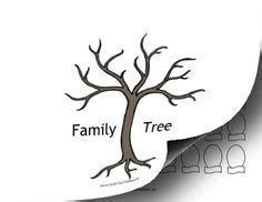 family cut out templates big green family tree to fill out sunday school