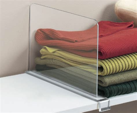 Closet Sweater Dividers acrylic shelf divider contemporary closet organizers by organize it