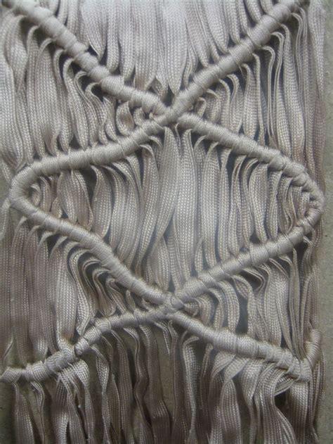 Macrame Fabric - modern macrame constructed textiles design using knots