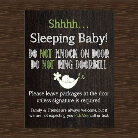 Baby Sleeping Sign For Front Door 1000 Ideas About Baby Sleeping Sign On Baby Baby Sleep And Nursery