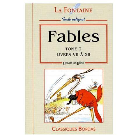 libro fables livres vii viii fables tome 2 livres 7 192 12 de jean de la fontaine