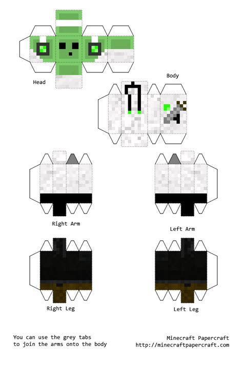 Minecraft Skin Papercraft - pixel papercraft minecraft skins related keywords pixel