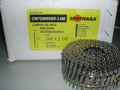 air gun nails for treated lumber 2 1 4 quot coil nails ring shank stainless steel 15 degree