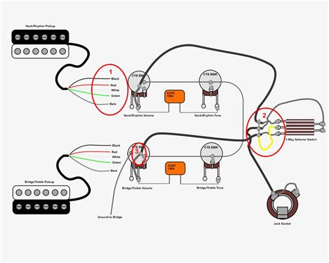 gibson les paul wiring diagram 5 position selector switch