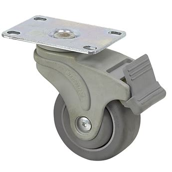 Roda 1 1 4 125 Casters Gepeng 1 Set 4 Pcs Promo T37 N0148 3 quot x 1 1 4 quot medcaster swivel plate caster w directional brake ng03qdp125dltp01 plate casters