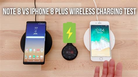iphone 8 plus vs note 8 wireless charging test