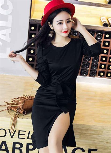 Ready Hitam Dress Kode 429 dress pita hitam terbaru 2016 myrosefashion