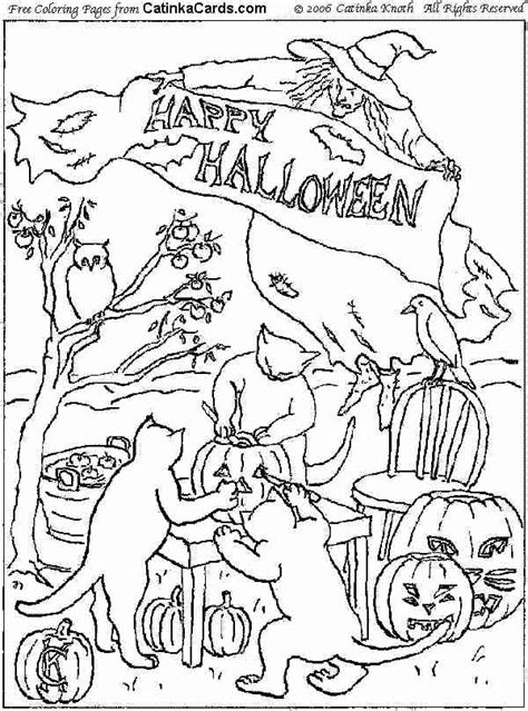 halloween coloring pages pdf halloween coloring pages pictures fun stuff and links
