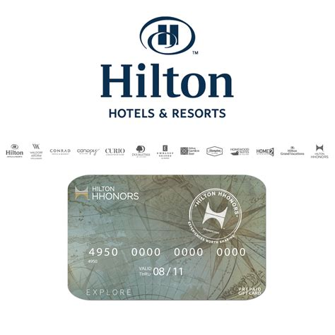 Hilton Hotels Gift Card - full wedding gift list range the gift list