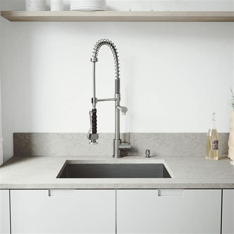 one basin kitchen sink vigo all in one undermount stainless steel 23 in single