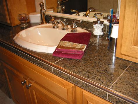 bathroom countertop tile ideas schluter edge for tile countertops this jury is still out kitchen countertops