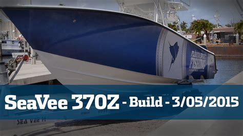 sea vee boats youtube seavee 370z taking delivery florida sport fishing tv