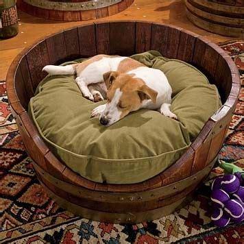 whiskey barrel dog house whiskey barrel dog bed diy home decor pinterest
