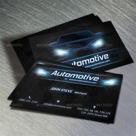 auto business card templates free automotive business card v2 by oksrider graphicriver