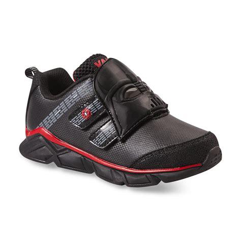 darth vader light up sneakers star wars boy s darth vader black red light up athletic