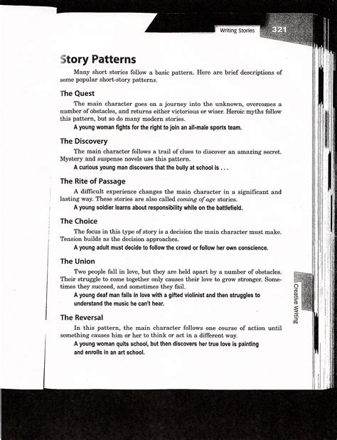 pattern story writing creative writing assignments ms carota english
