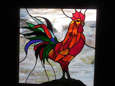 stained glass rooster l 284 best images about chicken tattoo inspiration on