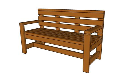 bench drawings outdoor bench plans howtospecialist how to build step