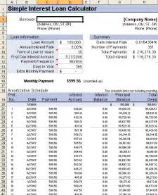Amortization Schedule Spreadsheet Template by Loan Amortization Schedule And Calculator