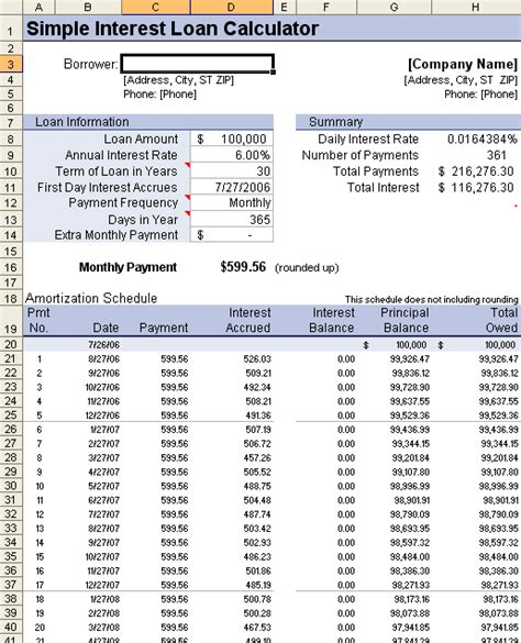balloon loan payment calculator excel templates