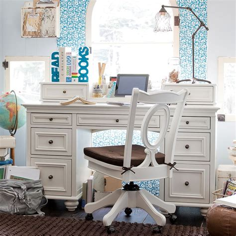 white desk for girls room study space inspiration for teens
