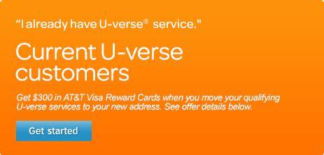 At T U Verse Visa Gift Card - moving get at t service at your new address